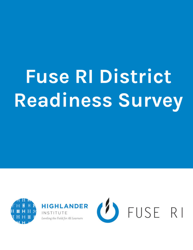 Fuse RI District Readiness Survey